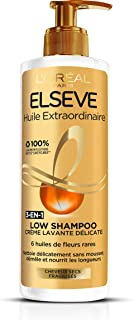 Elsève Low (versione francese), shampoo crema nutritiva per capelli secchi 400ml