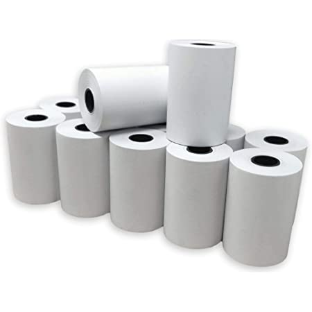 Lot de 6 rouleaux de papier thermique 57 x 30 mm