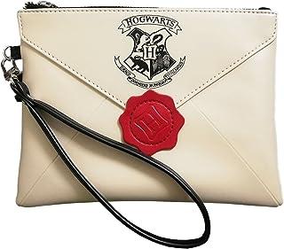 Portafoglio Donna Compatibile per Harry Potter Hogwarts Polsino con Cerniera Portafoglio Frizione Borsa Cosmetica