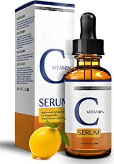 Best TINOLA Vitamin C Serum Topical Facial Serum with Hyaluronic Acid & Vitamin E   Effective Anti-Aging & Anti-Wrinkle Treatment   All Skin Types (10ml) Review