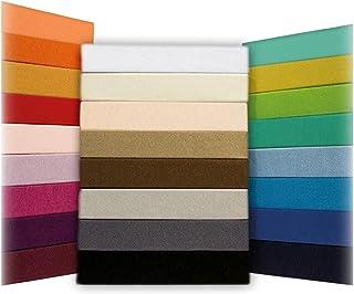 SHC Textilien Drap housse de matelas classique - 100% coton, rose saumon, 70 x 140 cm