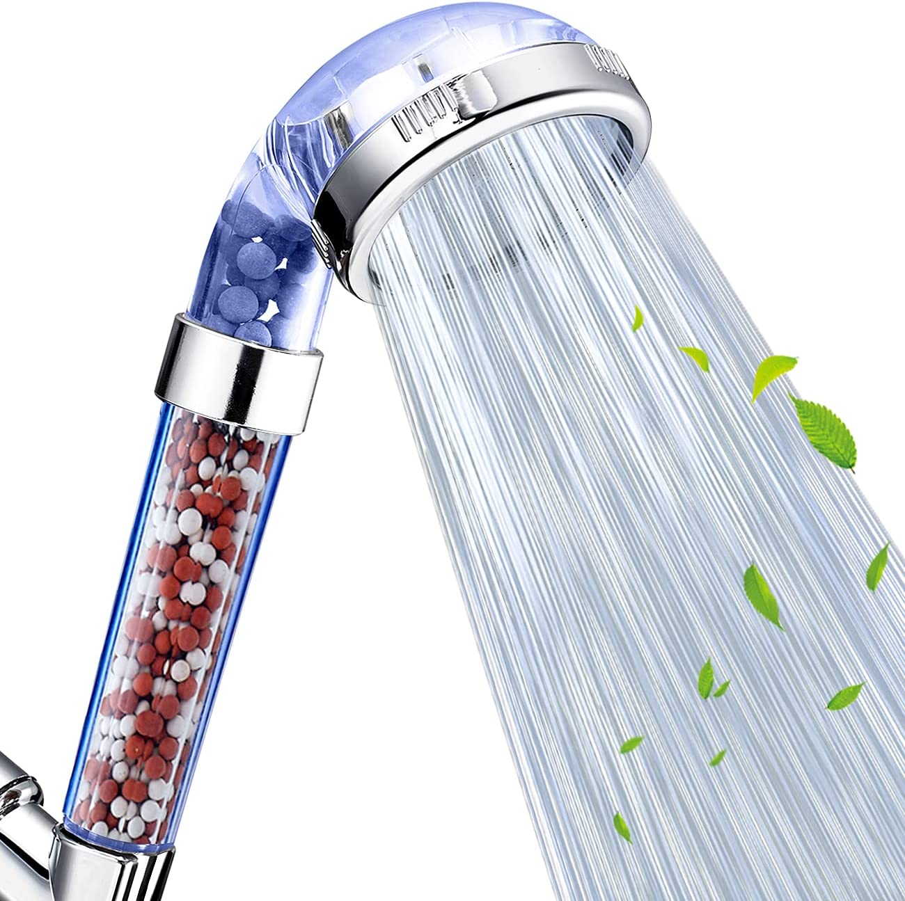 Nosame Shower Head, Filter Filtration High Pressure Water Saving 3 Mode Function Spray Handheld Showerheads for Dry Skin & Hair