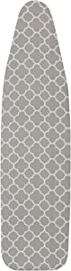 Household Essentials 80098 Ironing Board Cover | 100% Cotton | Gray Trellis