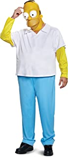 Disguise Men's New Homer Deluxe Adult Costume Adult Sized Costumes (pack of 1)