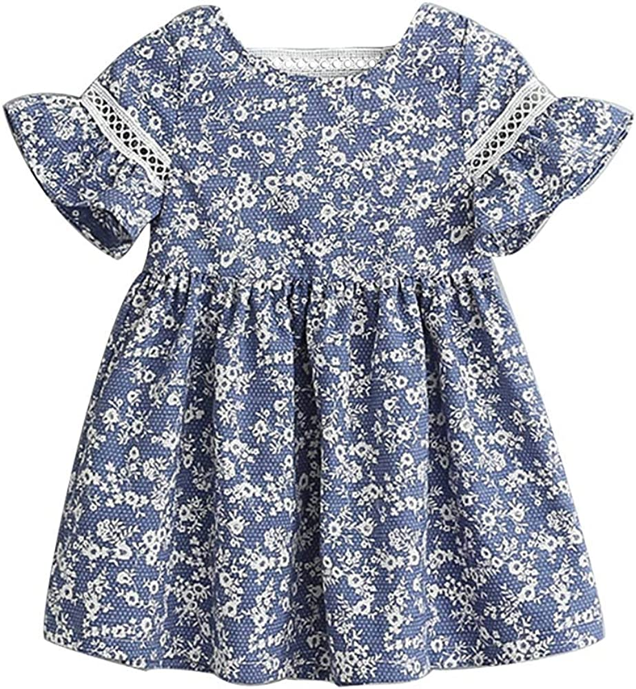 Zanie Kids Baby Chicago Mall Girl Dress Short Clothing Line A specialty shop Sleeves Newborn