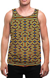 RainbowMaze   Mens   Tank Top   Aesthetic   Clothing   Tanks   Psychedelic   Festival   Psy   Rave