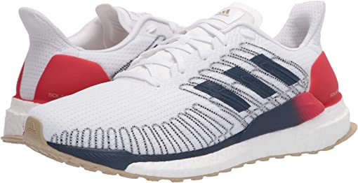 Footwear White/Tech Indigo/Scarlet