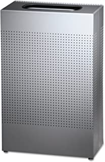 Rubbermaid Commercial Silhouettes Trash Can, 25 Gallon, Silver, FGSR14EPLSM
