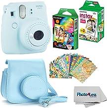 Fujifilm Instax Mini 9 Instant Film Camera (Ice Blue) - Fujifilm Instax Mini Instant Film, Twin Pack - Fujifilm Instax Min...