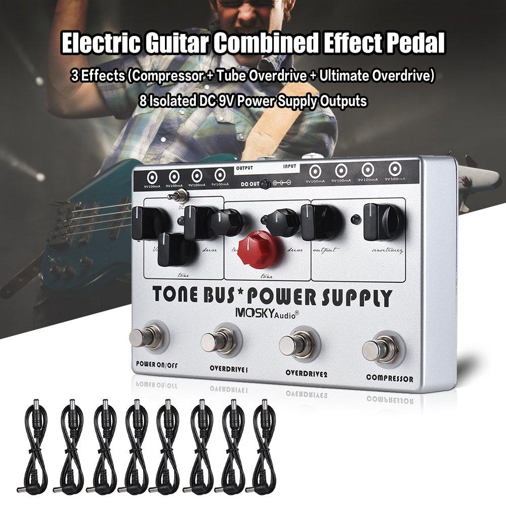 Fesjoy amplificador guitarra Efectos combinados del efecto de la ...
