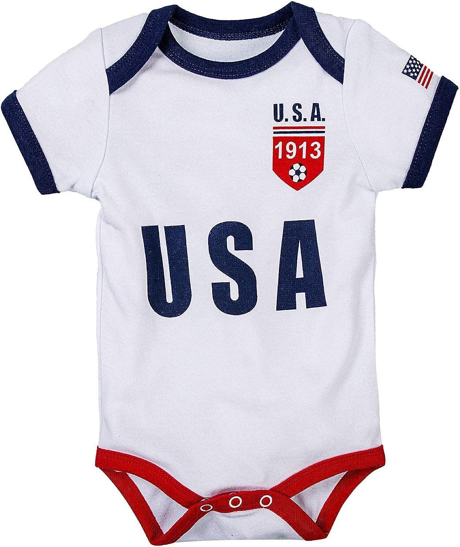 BKD Newborn Baby Boy Girls Bodysuit Clothes Onesie Soccer Unique Miami Import Mall