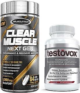 Clear Muscle (168 capsules) و Testovox (60 کپسول) - پیشرفته ترین ترکیبی از عضله سازی و قدرت قوی. ست کامل مکمل بدن سازی