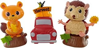 midwood Brothers Squirrel, Truck and Hedgehog Solar Dancing Toys for Happy Harvest, Autumn or Thanksgiving (Set of 3)   Desk Ornament or car Dashboard.