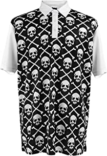ReadyGOLF Mens Golf Polo Shirt - Pirate Flag Large