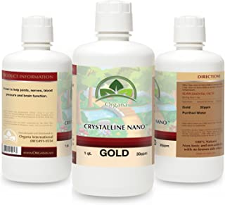 The Best Nano Colloidal Gold Mineral - 30 Parts Per Million - Colloidal Minerals - Liquid Colloidal Gold (30 PPM, 32 Ounces)