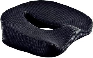 lucrubun 低反発 クッション 腰痛 クッション ぎっくり腰 ヘルニア 予防 オフィス リビングでも使用可能 携帯 持ち運び可能