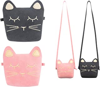 SOTOGO 2 Pack Little Girl Purses Toddler Purse Cat Purse Cute Princess Handbags Shoulder Cross body Bag