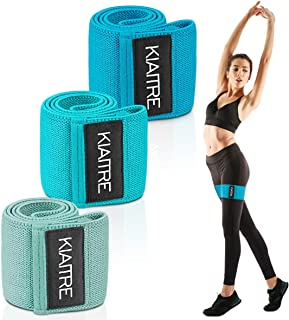 Kiaitre Resistance Bands for Women Butt and Legs - Resistance Bands Set with Non-Slip Latex Wire, 3 Different Levels Worko...