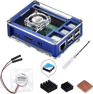 GeeekPi Raspberry Pi 3 B + Caja, Raspberry Pi Caja con ventilador, disipador de calor Raspberry Pi para Raspberry Pi 3 mod...