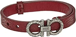Double Gancio Leather Bracelet