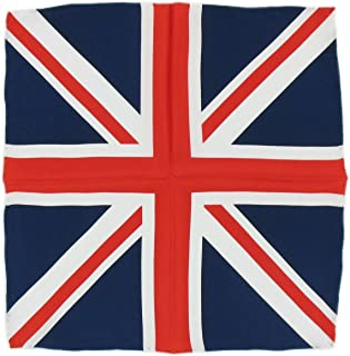 Michelsons of London Mens Union Jack Silk Handkerchief - Red/White/Blue