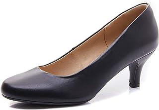 Women's Caroline Low Heel Round Toe Slip-on Dress Pumps...