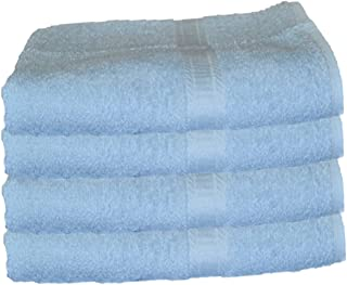 BELLA KLINE DESIGN Deluxe 100% Cotton Bath Towels, Easy Care Affordable, Cotton Towels for Maximum Softness and Absorbency, 4-Pack – Light Blue