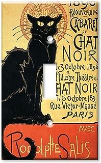 Art Plates - Chat Noir (Black Cat) Switch Plate - Single Toggle