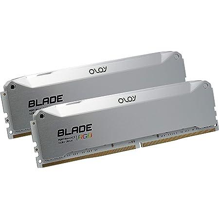 OLOy DDR4 RAM 16GB (2x8GB) Blade Aura Sync RGB 3200 MHz CL14 1.35V 288-Pin Desktop Gaming UDIMM (MD4U0832140BRADE)