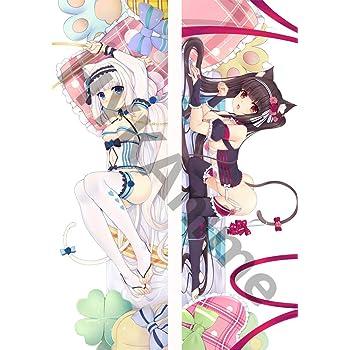 Neko Para Chocola /& Vanilla Anime Mini Dakimakura Keychain Phone Strap Hanging