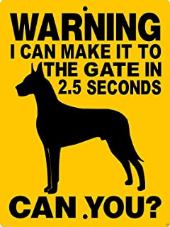 Great Dane Dog Guard Dog Gate Fence Hgd Novelty Metal Sign for Home Decor Tin Sign for Man Women Cave