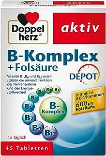 Doppelherz B-Komplex DEPOT mit Folsäure – B-Vitamine als Beitrag für die normale..