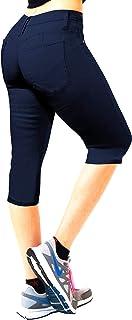 Women's Butt Lift Super Comfy Stretch Denim Capri Jeans Q37374X Indigo 20