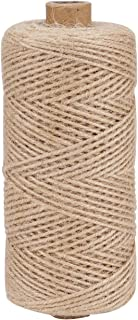 BFASU 2mm 3 Ply 656 Feet Natural Jute Twine String for DIY Crafts Gift Wrapping, Durable Jute Rope Twine for Gardening Heavy Duty Outdoor
