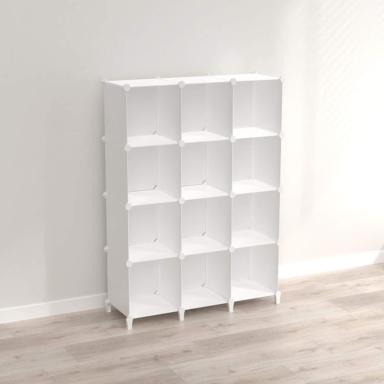 SIMPDIY lowest price Storage Cubes Plastic Sturdy Organizer 12-Cube Surprise price