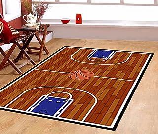 WOZO Old Basketball Court Floor Area Rug Rugs Non-Slip Floor Mat Doormats Living Room Bedroom 31 x 20 inches