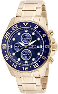 "Invicta Men's 15942""Specialty"" 18k Gold Ion-Plated Stainless Steel Bracelet Watch"