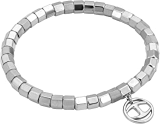 Just Cavalli Stainless Steel Beaded for Women, JCBR00320100