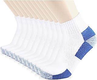 JOURNOW 10 Pairs Men's Cotton Extra Heavy Cushion Low Cut Socks