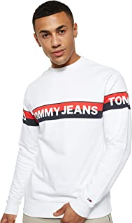 Tommy Jeans Men's TJM BAND LOGO CREW Sweatshirts
