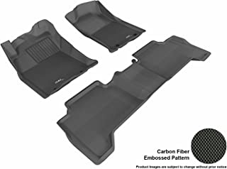 3D MAXpider Complete Set Custom Fit All-Weather Floor Mat for Select Toyota Tacoma Models - Kagu Rubber (Black)