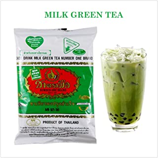 ChaTraMue Number One, Thai Iced Tea, Imported From Thailand, Size 200g (Milk Green Tea)