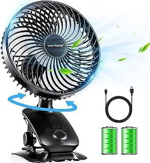 【2021年最新改良版】KEYNICE USB扇風機 卓上扇風機 クリップ 小型 扇風機 USBミニファン 充電式 静音 せんぷうき 自動首振り 扇風機 静音 リズム風搭載 熱中症対策 ブラック