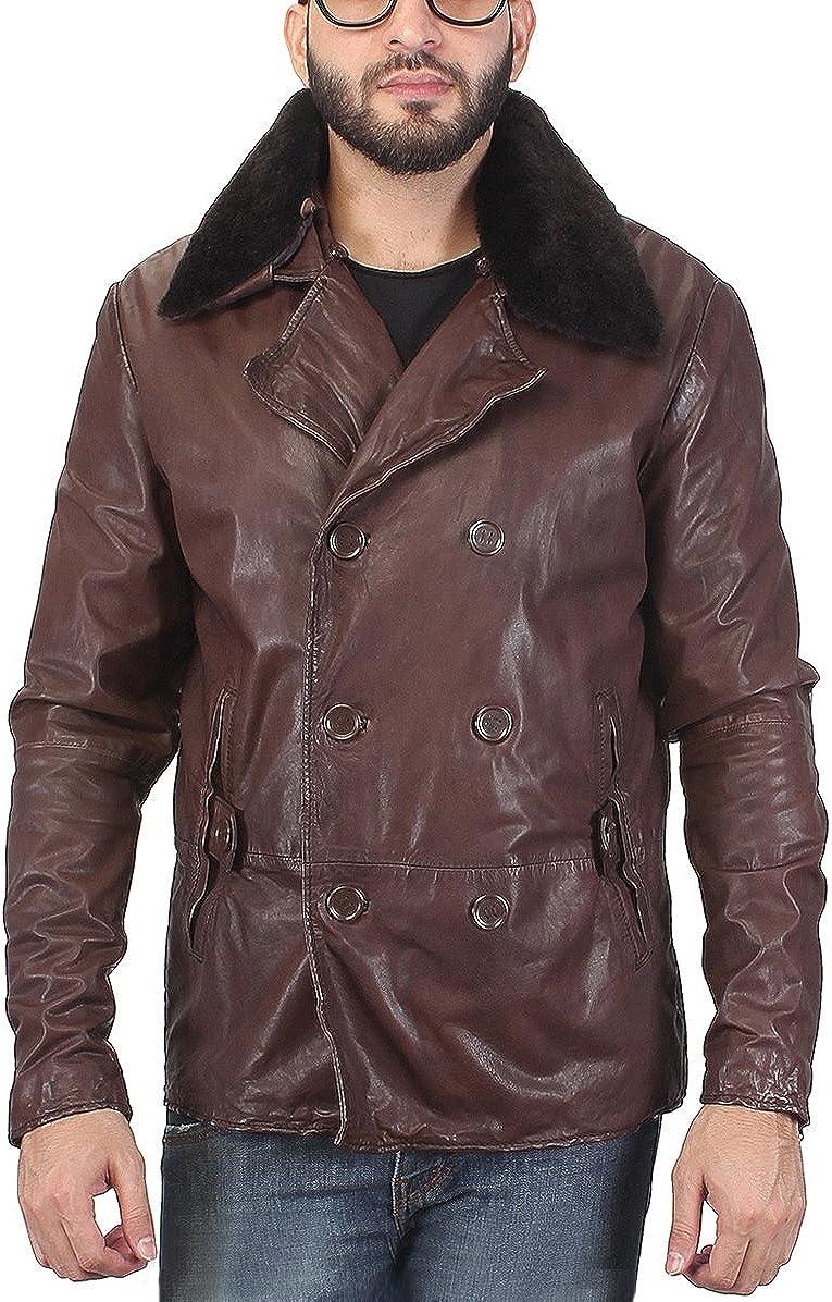 World of Leather Blazer Style Sheep Skin Leather Jacket Double Breasted