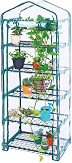 Worth Garden Estantes de 5 niveles Mini Invernadero PVC Cubierta - 69 (L) X49 (W) X193 (H) CM- # G304A00