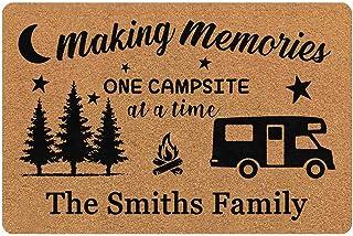 """MyPupSocks Custom Door Mat Text Making Memories Camper Bus Personalized Name Indoor Outdoor Rubber Rugs Front Doormat 24""""x16"""""""