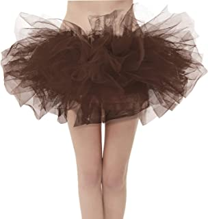 6fe18ec954 Girstunm Women's Classic Layers Fluffy Costume Tulle Bubble Skirt