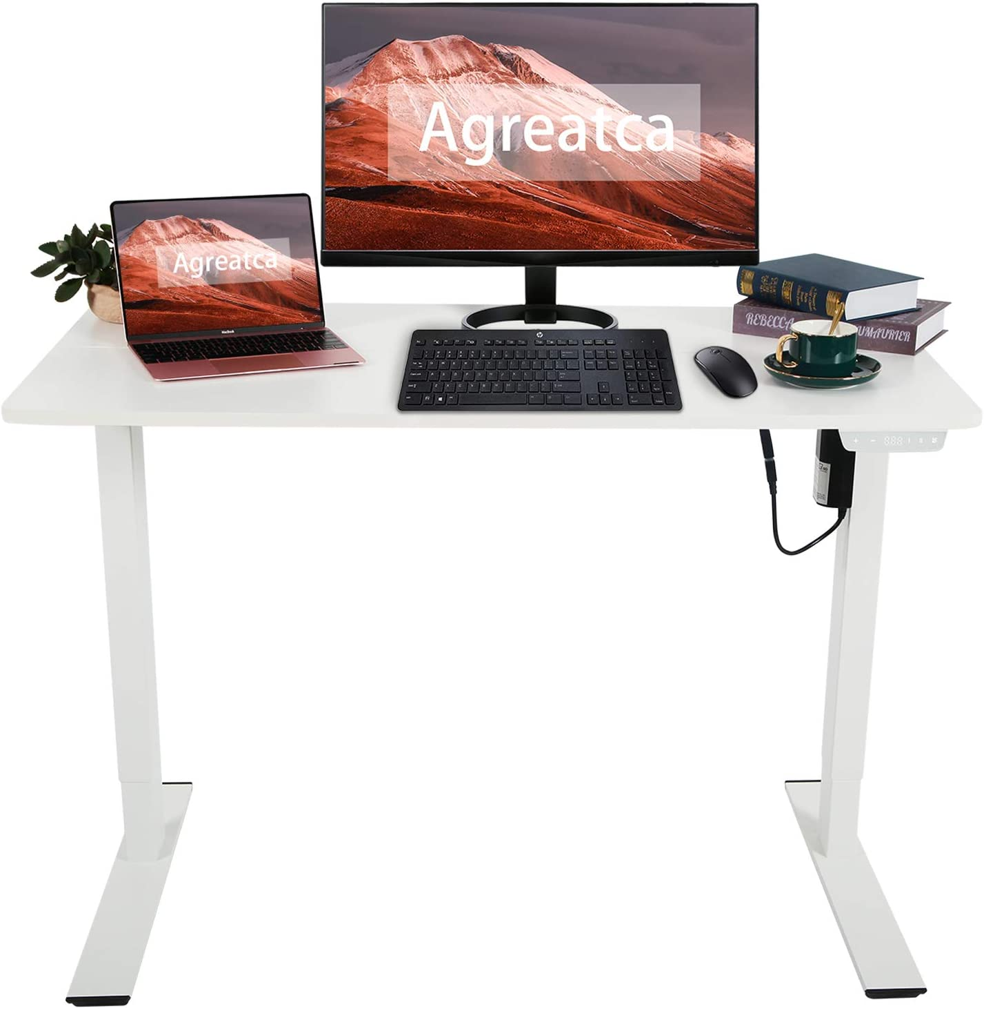 Agreatca Electric Standing Desk Height 超特価SALE開催 24 Inch Adjustable 信用 48 x