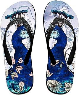 d66da8480 Kefanlk Unisex Sandy Flat Funny Flip Flops Thong Sandals Black Birds Slipper  Top Mat