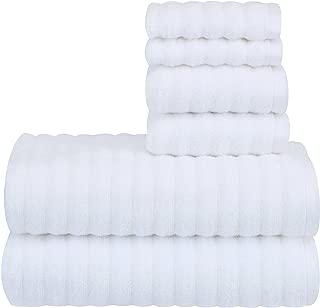 Mainstay Performance Texture 6-Piece Towel Set - Arctic White